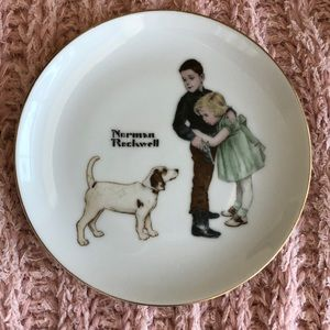 Vintage Norman Rockwell limited BIG BROTHER plate